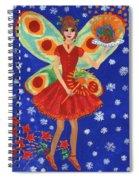 Christmas Pudding Fairy Spiral Notebook