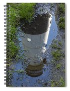 Christmas Range Light Reflection 1 Spiral Notebook