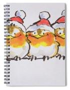 Christmas Robins Spiral Notebook