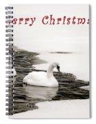 Christmas Swans 2367 Spiral Notebook