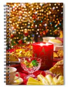 Christmas Table Set Spiral Notebook