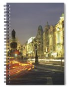 Christmas Traffic On Oconnell Street Spiral Notebook