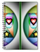 Christmas Tree - Gently Cross Your Eyes And Focus On The Middle Image Spiral Notebook