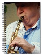 Christopher Mason Alto Sax Player Spiral Notebook