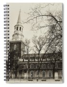 Christs Church Philadelphia In Sepia Spiral Notebook