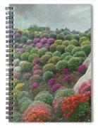Chrysanthemum Garden - Ott's Greenhouse Schwenksville Pa Spiral Notebook