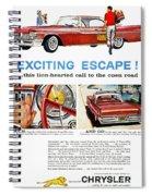 Chrysler Ad, 1959 Spiral Notebook