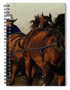 Rodeo Chuckwagon Racer Spiral Notebook