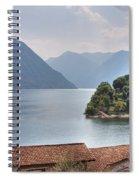 church at the Lake Como Spiral Notebook