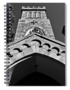 Church Facade In Black And White Spiral Notebook