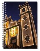 Church Lighting At Night Spiral Notebook