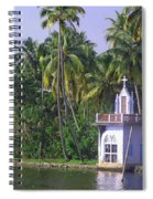 Church Located On A Coastal Lagoon In Kerala In India Spiral Notebook