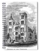 Church Of The Puritans Spiral Notebook