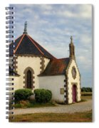 Church Off The Brittany Coast Spiral Notebook