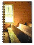 Church Pews - Light Through Window Spiral Notebook