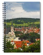Church Spire In The Old Town Cesky Spiral Notebook