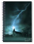 Church Struck By Lightning Spiral Notebook