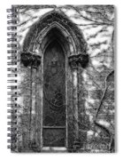 Church Window And Vines Bw Spiral Notebook