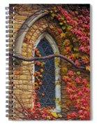 Church Window Autumn Spiral Notebook