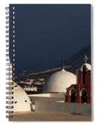Churches In Fira Greece Spiral Notebook