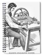 Cigar-making Machine, 1859 Spiral Notebook