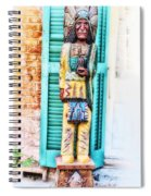 Cigar Store Indian - New Orleans Spiral Notebook