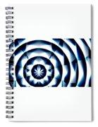 Circle Flower - Macro 1 Spiral Notebook