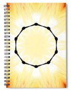 Circle Of Light Spiral Notebook