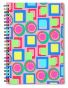 Circles And Squares Spiral Notebook