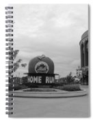 Citi Field In Black And White Spiral Notebook