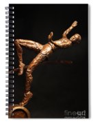Citius Altius Fortius Olympic Art High Jumper On Black Spiral Notebook