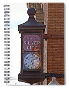 City Clock In Silver City Nm Spiral Notebook