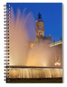 City Hall And Fountain At Dusk Spiral Notebook
