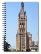 City Hall And Trolley Spiral Notebook