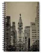 City Hall From North Broad Street Philadelphia Spiral Notebook