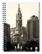 City Hall From The Parkway - Philadelphia Spiral Notebook