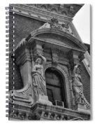 City Hall Window In Black And White Spiral Notebook