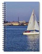 City Harbor Sailing Spiral Notebook