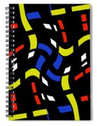City Lights Abstract Spiral Notebook