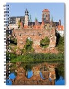City Of Gdansk In Poland Spiral Notebook