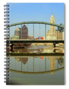 City Reflections Through A Bridge Spiral Notebook