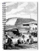 Civil War Battery Scene Spiral Notebook
