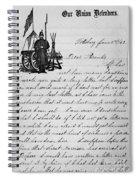 Civil War: Letter, 1862 Spiral Notebook