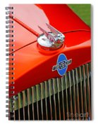 Classic Chevrolet Hood And Grill Spiral Notebook