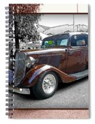 Classy Brown Ford Spiral Notebook