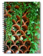 Clay Pattern Wall With Vines Spiral Notebook