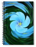 Clear Blue  Spiral Notebook