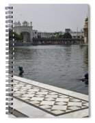 Clearing The Sarovar Inside The Golden Temple Resorvoir Spiral Notebook