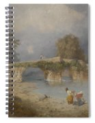 Clearing Up For Fine Weather Beddgelert North Wales 1867 Spiral Notebook