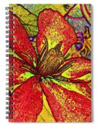 Clematis In Colored Pencil  Spiral Notebook